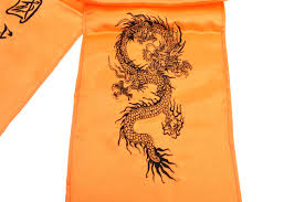 Destock Embroidered Dragon Kungfu Belt Silk Imitation