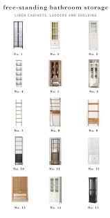 Our Favorite Freestanding Bathroom Linen Cabinets - Chris Loves Julia