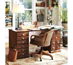 pottery barn office. Office Furniture Pottery Barn Printers Rectangular Desk Set Chestnut Home .