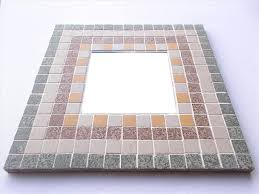 large 30 x 30cm mosaic mirror kit speckled frames