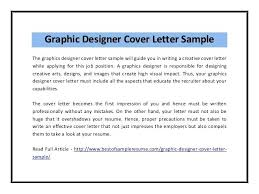 Ideas Collection Graphic Designer Cover Letter Citybirdsub With