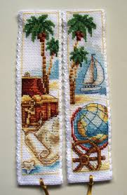 Vervaco Cross Stitch Charts Vervaco Cross Stitch Bookmarks Treasure Island Desert