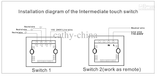 2017 1 gang intermediate touch switches 1 gang 2 way, double Touch Switch Wiring Diagram how to install the two switches ? touch lamp control switch wiring diagram