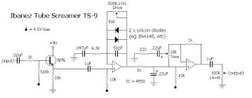 guitar effects ibanez tube screamer ts 9 electronic schematics guitar effects ibanez tube screamer ts 9