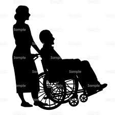 車椅子介護福祉病院シルエットのイラスト9990271 クリエーター