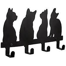 Cat Coat Rack Amazon YOURNELO Metal Cute Cats Wall Mounted Coat Rack 100 Hooks 2