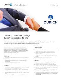 Zurich Life Insurance Quote Awesome Zurich Insurance Group Case Study Human Connection Brings Zurich's E