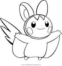 Disegno Pokemon Emolga Personaggio Cartone Animato Da Colorare