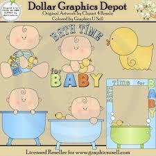 bath time for baby boy 1 clip art