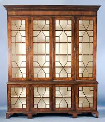 tall bookcase with glass doors door white oak bookcases antique
