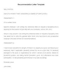 Recommendation Letter From Employer For Student Sample Reference Letter For A Student Character Large