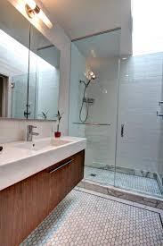 Bathroom Vanity Brooklyn Sleek Master Bathroom With A Space Efficient Duravit Floating