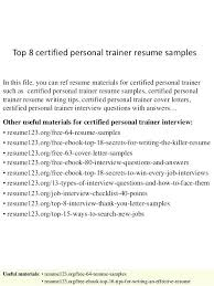 Personal Trainer Resume Templates Free Template Fitness And