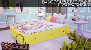 Sims Bedroom Dreamcatchersims Basic Double Bed Frame In 20 Colors By