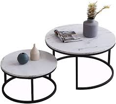 round nesting coffee tables set of 2