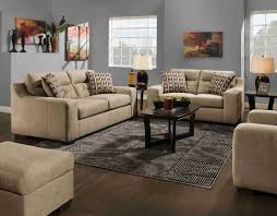 Taupe Living Room American 1300 Addy Taupe 2 Pc Set Sofa And Loveseat By American