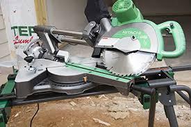 hitachi uu240f. hitachi c10fsbp4 12-amp 10-inch sliding dual compound miter saw - power saws amazon.com uu240f 1