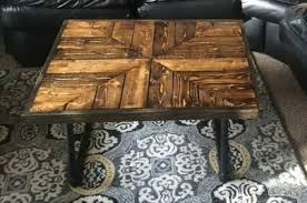 diy pallet iron pipe. Pallet Coffee Table With Metal Base Diy Iron Pipe