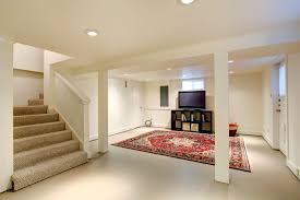 carpeted basement stairs