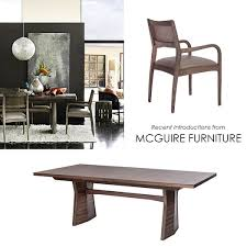 mcguire furniture company. Dining Tables Chairs From Kdr Designer Showrooms Interior Design Mcguire Furniture Company