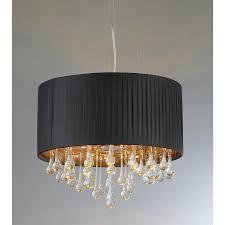 urban crystal black chandelier