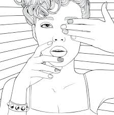 Recolor Coloring Pages Hair For Related Post Get Pictures Free