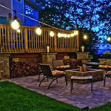 patio string lighting ideas. Modest Solar Powered Outdoor String Lights In Lighting Ideas Decoration Landscape Decor Patio