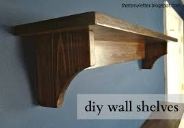 build knock off wall shelves