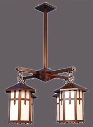 mission arts and crafts chandeliers tw 2 4