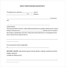 example short form 14 subcontractor agreement templates free sample example format