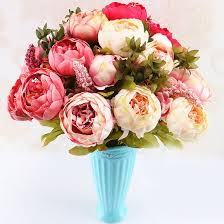 Şakayık çiçek Avrupa Sahte çiçekler şakayık Vintage Yapay İpek çiçek Düğün  Dekorasyon Ev şakayık çiçek Buketi Flores sipariş ~ Yapay Süslemeleri /  Xpats.news