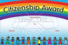 Citizenship Award Printable Classroom Student Awards And