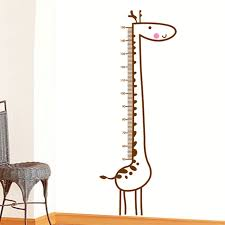 Brown Giraffe Height Measure Chart Vinyl Removable Home Decor Kids Child Room Nursery Door Diy Wall Poster Stickers Decal Mural In Wall Stickers From