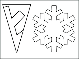 Blank Snowflake Template Snowflake Folding Template