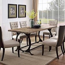 effuse wood top dining table brown today overstock 9083109
