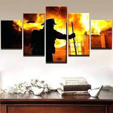 firefighter wall art 5 piece the hero canvas paintings fallen firefighter wall art