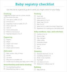 list of items needed for baby sample baby registry checklist 7 documents in pdf excel