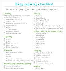 Sample Baby Registry Checklist 7 Documents In Pdf Excel