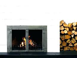 cleaning wood stove glass impressive burning fireplace door throughout doors open or closed