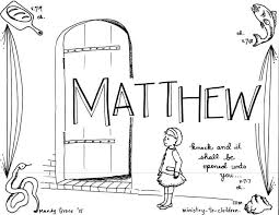 Matthew Free Bible Activity Pages For Kids Printable Coloring With