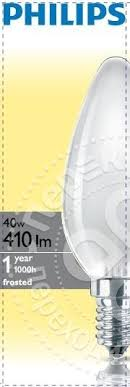 Купить <b>Лампа накаливания Philips</b> В35 FR E14 <b>40Вт</b> с доставкой ...