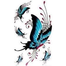 Metallic Tattoo Tetování 3d Motýl Aq025