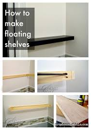 How To Make Floating Shelves From Scratch Magnificent How To Make Floating Shelves Create And Babble