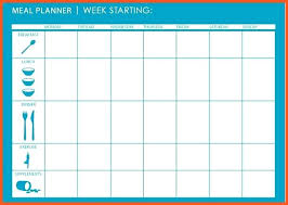 Weekly Planner Template Word Excel Monthly Calendar Month Template Word Meal Plan Weekly Food