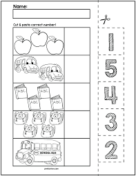 Kindergarten Counting Worksheets 1 5 4 Numbers For All Download ...