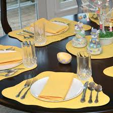 placemats for round tables small vinyl wedge pattern