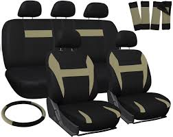 suv seat covers for toyota rav4 tan black w steering wheel belt pads head rests