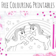 Colouring Worksheets Printable Unicorn Coloring Pages Cute Kids