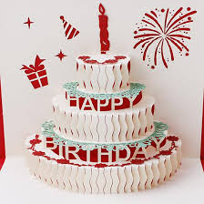 3d Birthday Cake Greeting Card Bakerkraft