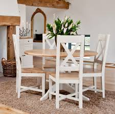 view larger intone painted oak round pedestal dining